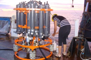 Collecting some water samples...