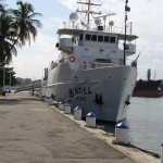 NOAA Nancy Foster at the Santo Domingo port in Domincan Republic